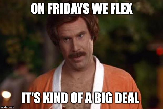 anchorman robe | ON FRIDAYS WE FLEX IT'S KIND OF A BIG DEAL | image tagged in anchorman robe | made w/ Imgflip meme maker
