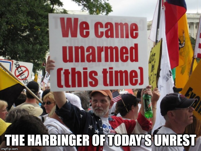THE HARBINGER OF TODAY'S UNREST | made w/ Imgflip meme maker