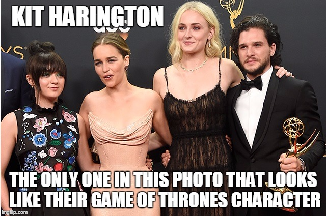 The truth has been spoken | KIT HARINGTON THE ONLY ONE IN THIS PHOTO THAT LOOKS LIKE THEIR GAME OF THRONES CHARACTER | image tagged in truth,game of thrones | made w/ Imgflip meme maker