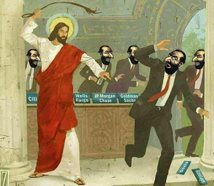 Image result for jesus flogging jews meme