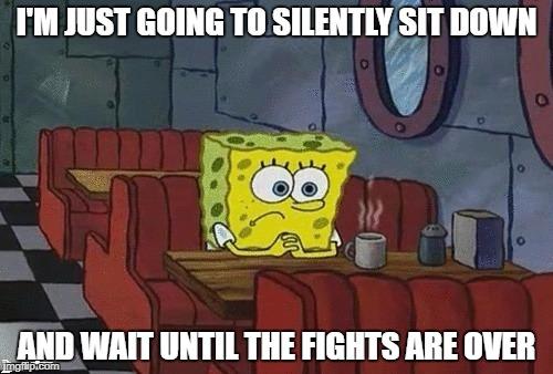 1uq2dp spongebob sitting alone meme generator imgflip