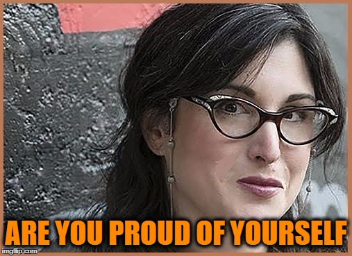 feminist Zeisler | ARE YOU PROUD OF YOURSELF | image tagged in feminist zeisler | made w/ Imgflip meme maker