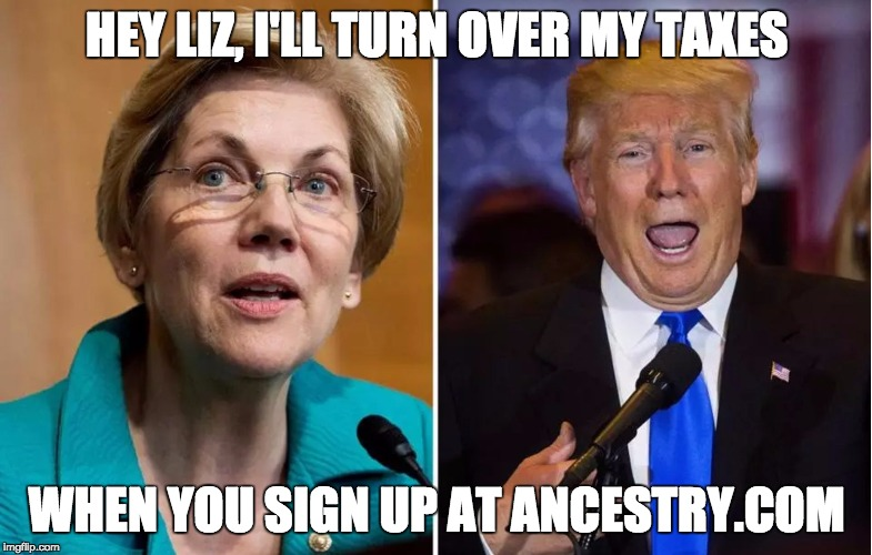 HEY LIZ, I'LL TURN OVER MY TAXES WHEN YOU SIGN UP AT ANCESTRY.COM | image tagged in taxes and dna | made w/ Imgflip meme maker