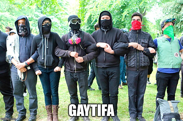 Planet of the Gapes | GAYTIFA | image tagged in antifa | made w/ Imgflip meme maker