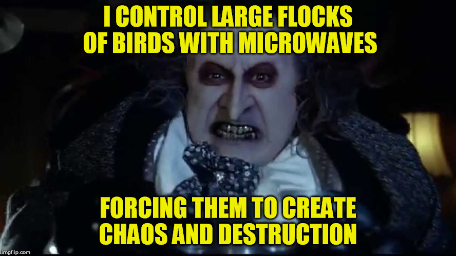 I CONTROL LARGE FLOCKS OF BIRDS WITH MICROWAVES FORCING THEM TO CREATE CHAOS AND DESTRUCTION | made w/ Imgflip meme maker