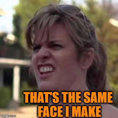 seriously? | THAT'S THE SAME FACE I MAKE | image tagged in seriously | made w/ Imgflip meme maker