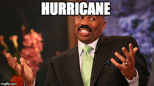 Hope he gets confused with a light drizzle. | HURRICANE | image tagged in memes,steve harvey,hurricane harvey,hurricane,iwanttobebacon,iwanttobebaconcom | made w/ Imgflip meme maker