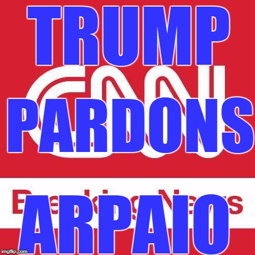 I think this is cause for CNN to break out its 500 point font on the home page. | TRUMP PARDONS ARPAIO | image tagged in cnn breaking news | made w/ Imgflip meme maker
