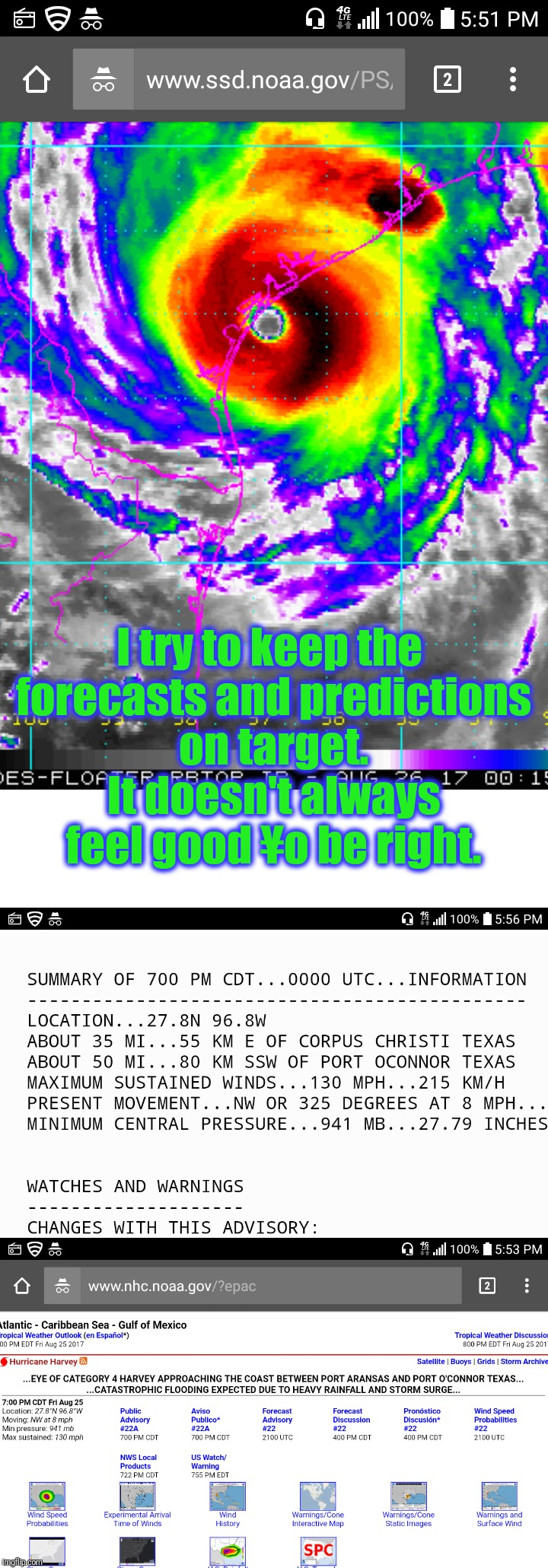 I try to keep the forecasts and predictions on target. It doesn't always feel good ¥o be right. | made w/ Imgflip meme maker