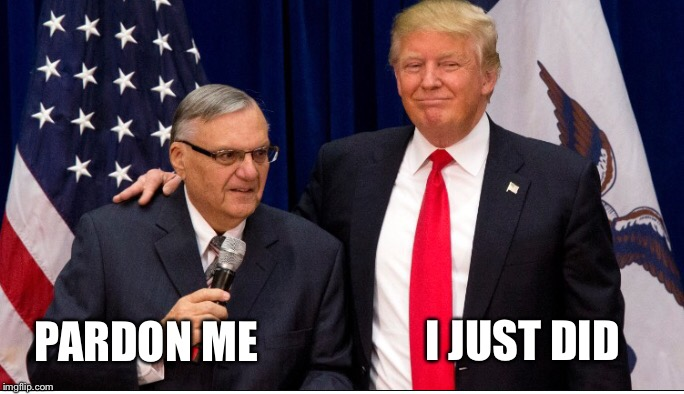 """So Sheriff Joe was convicted for just doing his job?"" No, he was convicted for disregarding a direct court order. 