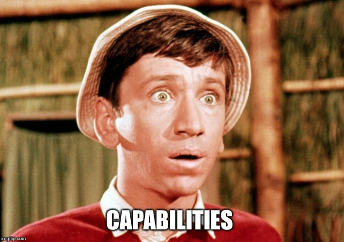 CAPABILITIES | image tagged in gilligan surprised | made w/ Imgflip meme maker