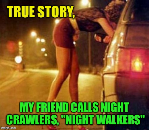 "TRUE STORY, MY FRIEND CALLS NIGHT CRAWLERS, ""NIGHT WALKERS"" 