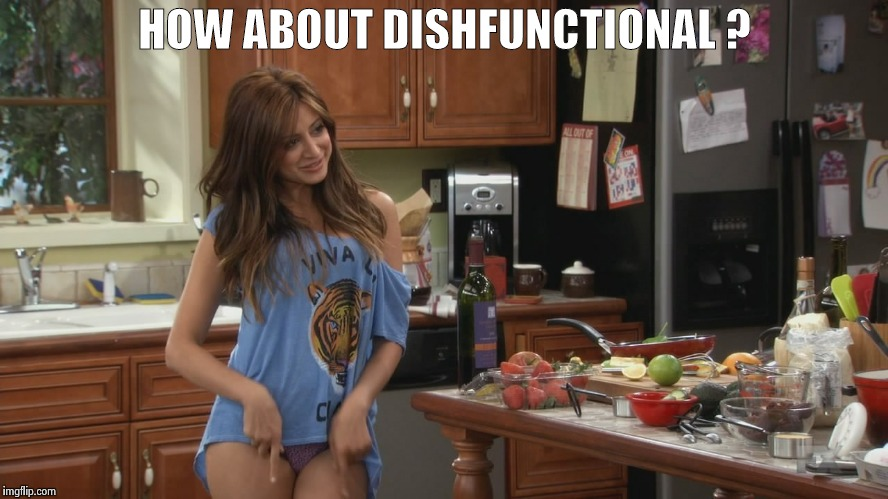 Noureen Dewulf | HOW ABOUT DISHFUNCTIONAL ? | image tagged in noureen dewulf | made w/ Imgflip meme maker