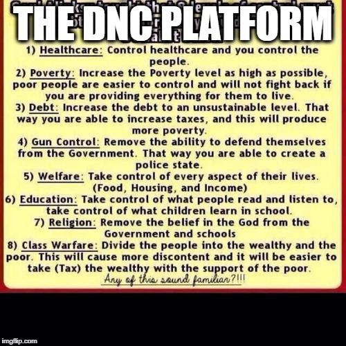 DNC PLATFORM | THE DNC PLATFORM | image tagged in dnc | made w/ Imgflip meme maker