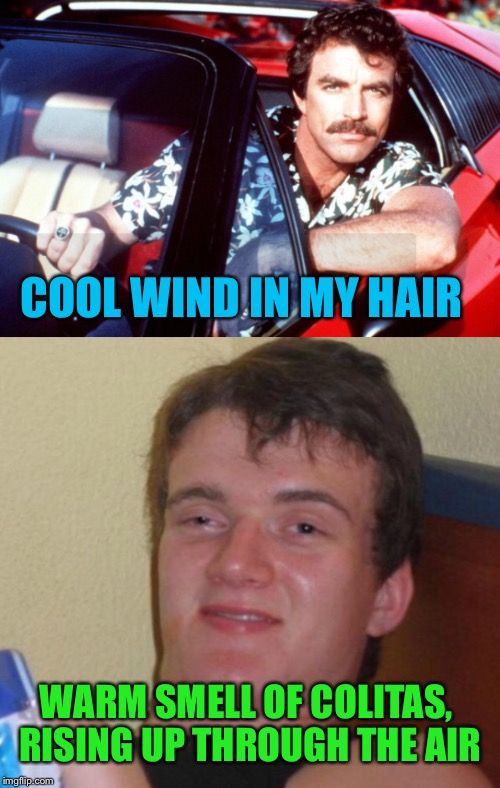 COOL WIND IN MY HAIR WARM SMELL OF COLITAS, RISING UP THROUGH THE AIR | made w/ Imgflip meme maker
