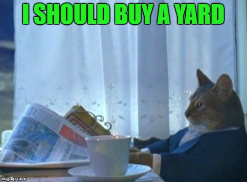 I SHOULD BUY A YARD | made w/ Imgflip meme maker