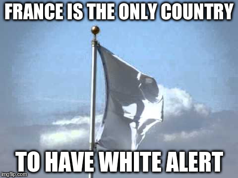 FRANCE IS THE ONLY COUNTRY TO HAVE WHITE ALERT | made w/ Imgflip meme maker