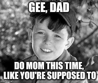 beave | GEE, DAD DO MOM THIS TIME, LIKE YOU'RE SUPPOSED TO | image tagged in beave | made w/ Imgflip meme maker