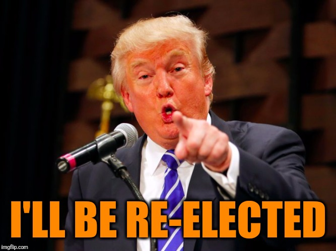 trump point | I'LL BE RE-ELECTED | image tagged in trump point | made w/ Imgflip meme maker