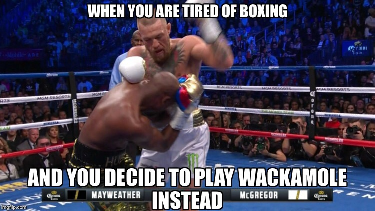 image tagged in mayweather,conor mcgregor,boxing,jokes,memes,funny memes | made w/ Imgflip meme maker