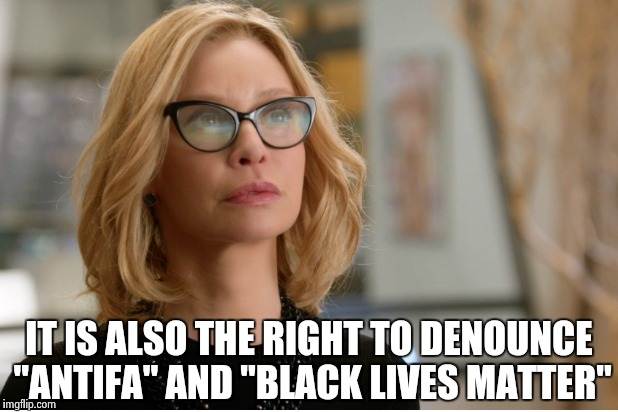 "Callista Flockhart | IT IS ALSO THE RIGHT TO DENOUNCE ""ANTIFA"" AND ""BLACK LIVES MATTER"" 