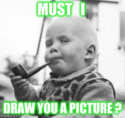 Think About It | MUST   I DRAW YOU A PICTURE ? | image tagged in think about it | made w/ Imgflip meme maker