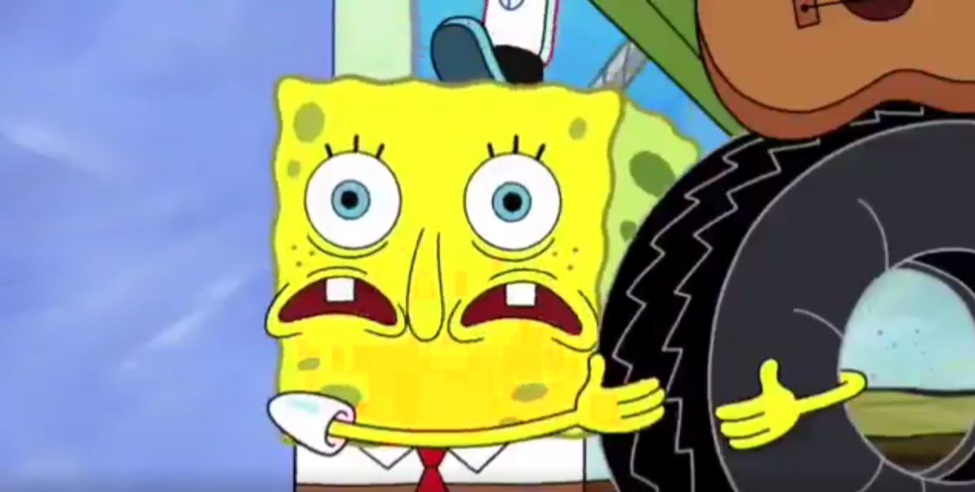 High quality spongebob uh oh blank meme template