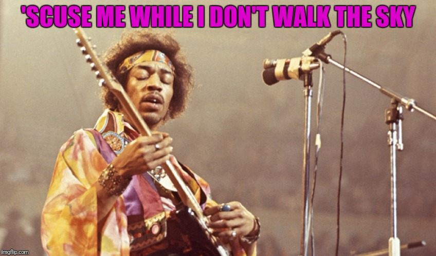 'SCUSE ME WHILE I DON'T WALK THE SKY | made w/ Imgflip meme maker