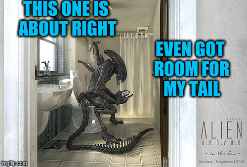THIS ONE IS ABOUT RIGHT EVEN GOT ROOM FOR MY TAIL | made w/ Imgflip meme maker