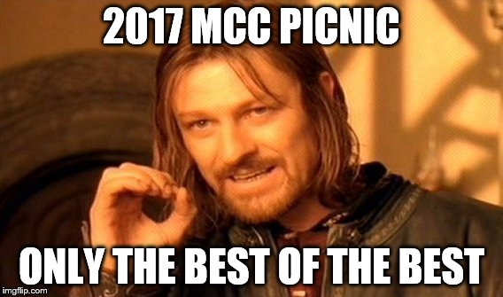 One Does Not Simply Meme | 2017 MCC PICNIC ONLY THE BEST OF THE BEST | image tagged in memes,one does not simply | made w/ Imgflip meme maker