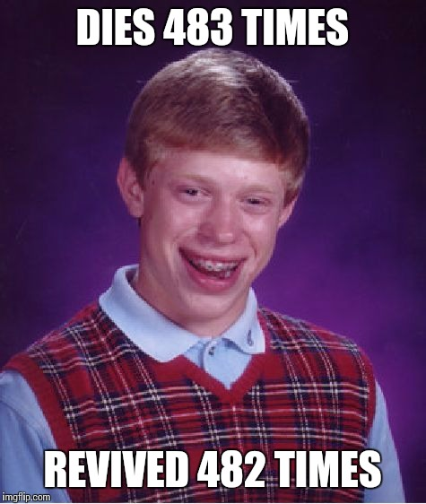Bad Luck Brian Meme | DIES 483 TIMES REVIVED 482 TIMES | image tagged in memes,bad luck brian | made w/ Imgflip meme maker