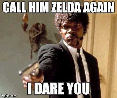 It's LINK you noobs! | CALL HIM ZELDA AGAIN I DARE YOU | image tagged in memes,say that again i dare you | made w/ Imgflip meme maker
