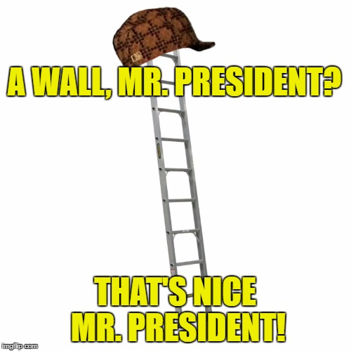 A WALL, MR. PRESIDENT? THAT'S NICE MR. PRESIDENT! | made w/ Imgflip meme maker