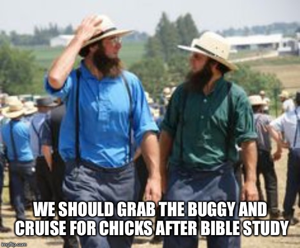 WE SHOULD GRAB THE BUGGY AND CRUISE FOR CHICKS AFTER BIBLE STUDY | made w/ Imgflip meme maker