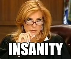 INSANITY | image tagged in judgey poo | made w/ Imgflip meme maker