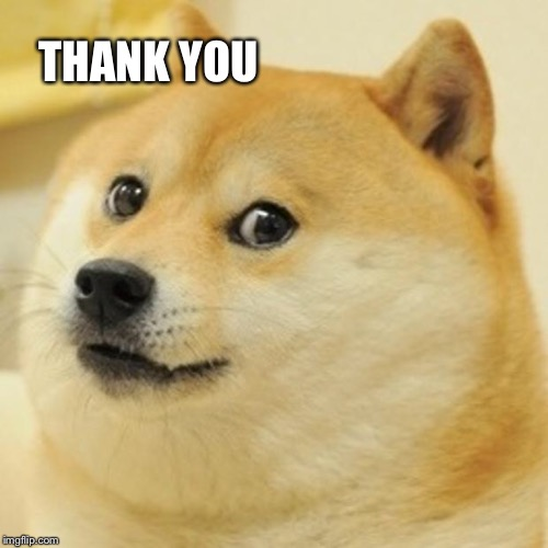Doge Meme | THANK YOU | image tagged in memes,doge | made w/ Imgflip meme maker