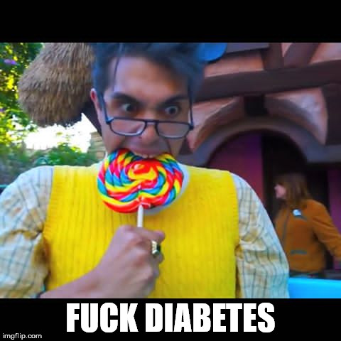 when you haven't eaten candy because of fox news propaganda saying not to | F**K DIABETES | image tagged in brandon rogers,candy,diabetes | made w/ Imgflip meme maker