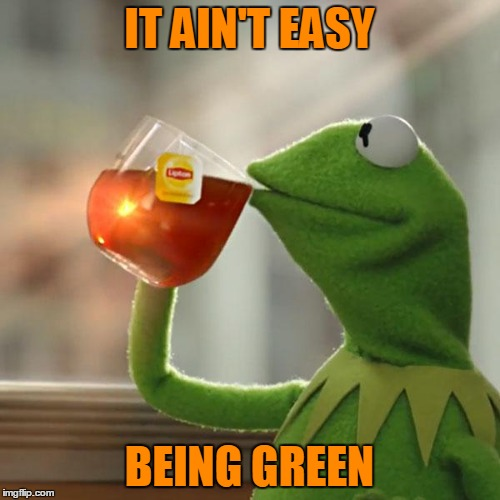 But Thats None Of My Business Meme | IT AIN'T EASY BEING GREEN | image tagged in memes,but thats none of my business,kermit the frog | made w/ Imgflip meme maker