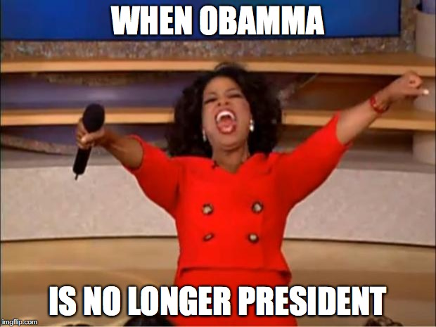 Oprah You Get A Meme | WHEN OBAMMA IS NO LONGER PRESIDENT | image tagged in memes,oprah you get a | made w/ Imgflip meme maker