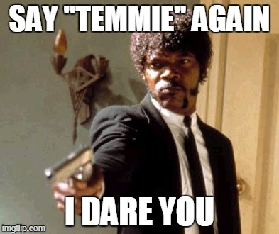 "Say That Again I Dare You Meme | SAY ""TEMMIE"" AGAIN I DARE YOU 