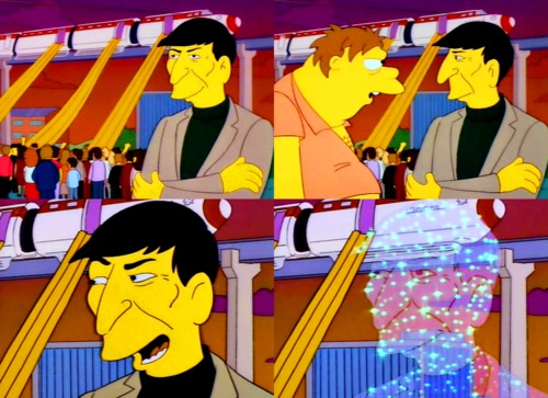 High Quality leonard nimoy simpson Blank Meme Template