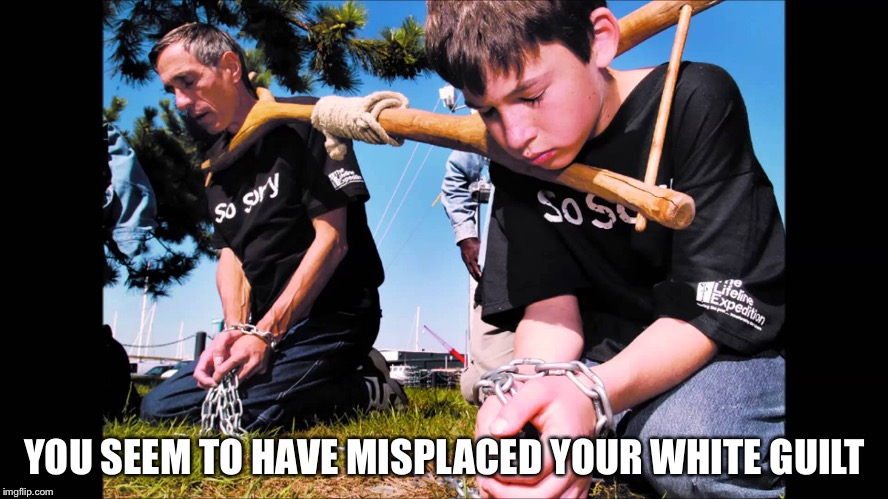 YOU SEEM TO HAVE MISPLACED YOUR WHITE GUILT | made w/ Imgflip meme maker