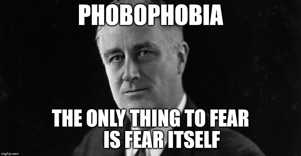 PHOBOPHOBIA THE ONLY THING TO FEAR      IS FEAR ITSELF | made w/ Imgflip meme maker