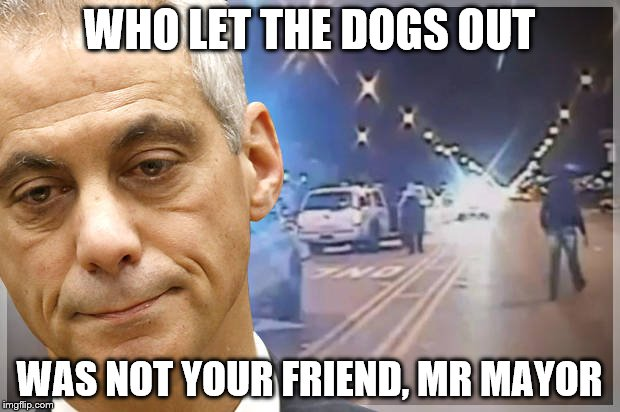 WHO LET THE DOGS OUT WAS NOT YOUR FRIEND, MR MAYOR | image tagged in chicago mayor | made w/ Imgflip meme maker