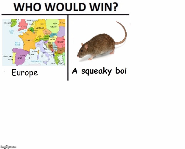 Who Would Win? | image tagged in who would win,europe,rat,boi,squeaky,memes | made w/ Imgflip meme maker