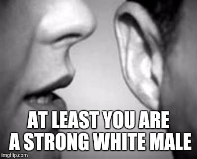 AT LEAST YOU ARE A STRONG WHITE MALE | made w/ Imgflip meme maker