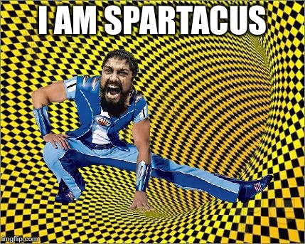I made another Sparta meme but this time...it's different | I AM SPARTACUS | image tagged in lazytown,this is sparta,photoshop,lol,wtf | made w/ Imgflip meme maker