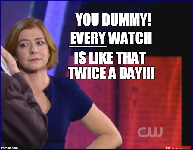 YOU DUMMY! EVERY WATCH IS LIKE THAT TWICE A DAY!!! EEEEEEEEEEEEEEEEEEEEEEEEEEEEEEEEEEEEEEEEEEEEEEEEEEEEEEEEEEEEEEEE | made w/ Imgflip meme maker