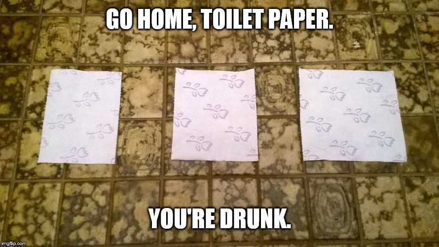 Drunk T.P | GO HOME, TOILET PAPER. YOU'RE DRUNK. | image tagged in toilet paper,go home youre drunk,go home you're drunk,new meme,new template | made w/ Imgflip meme maker