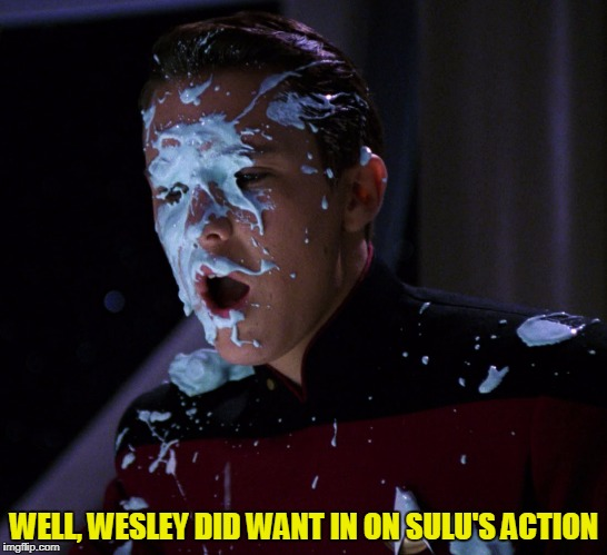 WELL, WESLEY DID WANT IN ON SULU'S ACTION | made w/ Imgflip meme maker